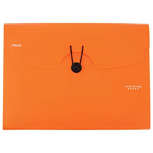 Five Star 6-Pocket Expanding File, Plastic Expandable File Folder, Tab Inserts Orange (72923)