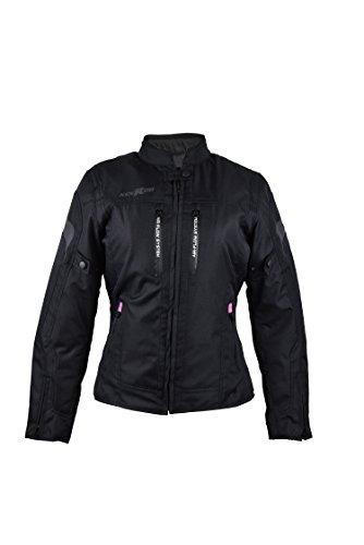 Zerimar KENROD Chaqueta Moto Cordura para Mujer Chaqueta Moto Protecciones Extraibles Chaqueta Motocicleta con Protecciones para Mujer Tejido Cordura Color Negro Talla L