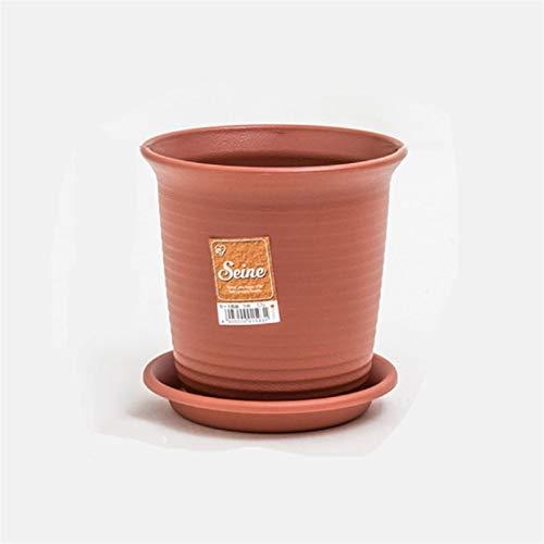 YUXINYAN Blumentopf Balkon Nachahmung Keramik mit Tablett Blume Topf Große Boden Kreative grüne Dill Pflanze Sukkulenten Blumentopf Eintopfpflanzung Erhalt Pot PflanzküBel AußEn (Size : 10.5L)