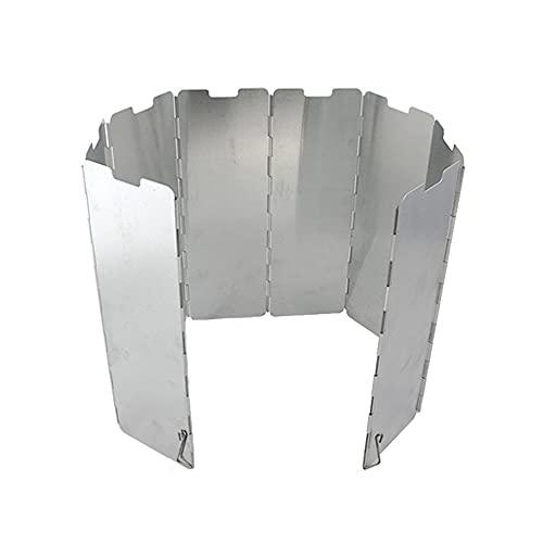 Parevientos plegable para calentar y portátil, 8 platos, parabrisas, de camping, para exteriores, estufa, cocina, picnic (8 piezas)