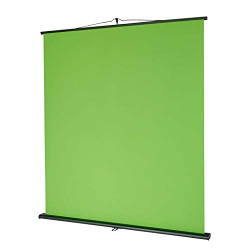 celexon Mobile Lite Chroma Key Green Screen, 150x 200cm - Profi Studiokulisse/Hintergrund für Video-Übertragung, Webcam-Meeting, Online-Schulung