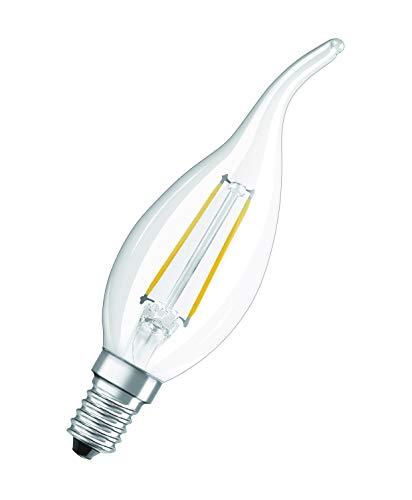 OSRAM Lot de 10 Ampoules LED   Culot E14   Blanc chaud   2700 K   2,50 W équivalent 25 W   clair   LED Retrofit   Forme flamme Coup de Vent