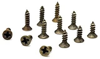 YANTING Thumb Screw Flat Head Screw Carpenter's Small Screw Furniture Wooden Box Hardware Accessories (Color : Bronze, Size : 2x7mm)