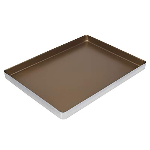 Baking Sheet Cookie Sheet Tray, Nonstick Bakeware Professional Aluminum Alloy Baking Roasting Pans Cake Trays, Dishwasher Safe – 40x30x3 cm / 15.7×11.8×1.1 inch