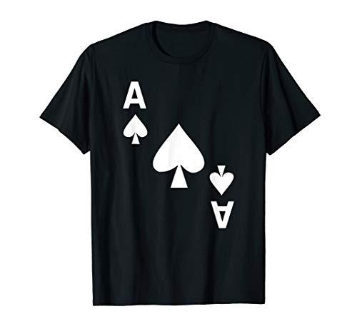 Kartenspiel Karte Pik Aß Karten Poker Fasching Karneval T-Shirt
