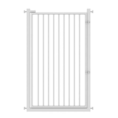 PNFP Indoor Safety Gates Supergate Extra Tall Easy Close Poort, Wit, Past op ruimtes tussen 65 cm tot 140 cm breed en 120 cm hoog