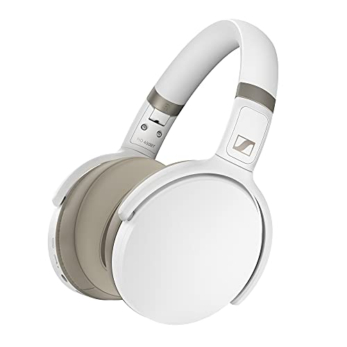 Sennheiser HD 450BT Cuffia Wireless con Cancellazione Attiva del Rumore, Bianco