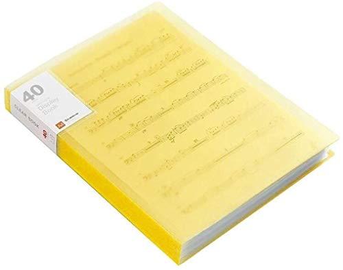 MCE Student Notebook A4 Dateiordner Information Buch Papier Clip Ordner Schüler Ordner Tasche Multi-Layer Transparent Dokumentordner (Size : 40 Mezzanine-Clear Yellow)