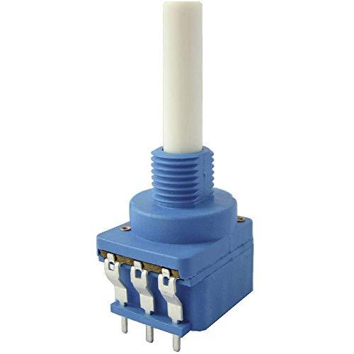 Weltron 002045039180 - Potenciómetro rotativo (100 kΩ lineal, 0,4 W, con interruptor rotativo, 1 unidad)