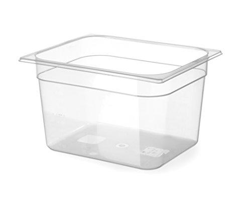 HENDI Gastronormbehälter, Temperaturbeständig von -40° bis 80°C, Skalierung, Geruchs- und geschmackneutral, 12,5L, Polypropylen, GN 1/2, 325x265x(H)200mm, Transparent