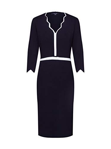 comma Damen 85.899.82.0897 Kleid, Schwarz (Black 9999), (Herstellergröße: 40)