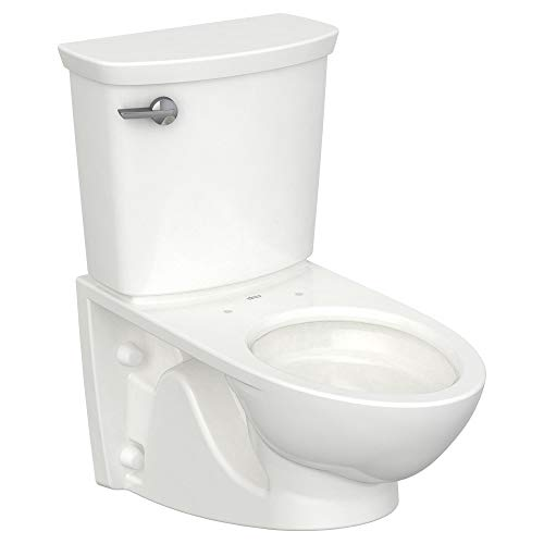 American Standard 2882107.020 Glenwall VorMax Wall-Hung Elongated Toilet with Left Hand Trip Lever, 1.28 Gpf, White