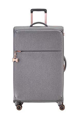 TITAN 4-Rad Weichgepäck Koffer mit Dehnfalte + TSA Schloss, Gepäck Serie BARBARA: Exklusiver Trolley im eleganten Look, 383404-04, 79 cm, 94 Liter (erweiterbar auf 106 L), grey (grau)