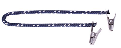 Cap Catch Clip Sicherung Hutband für Hut und Mütze (Marine/Silber)