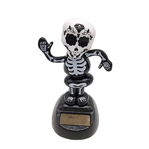 YTNGYTNG Decoraciones de Coche Skeleton Hombres Solar Powered Dashboard Toy Juguete Home Car Desktop Ornament Decoración Coche Accesorios Interior