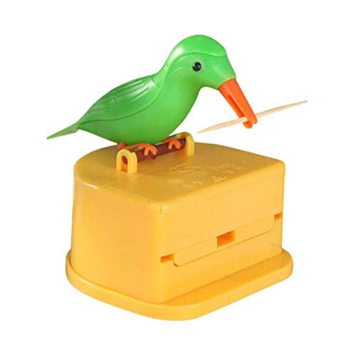 Leikance Zahnstocheretui, niedlicher Vogel, kreative Presse, intelligenter Zahnstocherhalter, Spender, Geschenk Reinigung