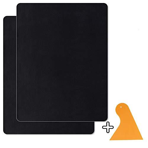 Homean Kit De Parche De Piel 2 PcsParches Autoadhesivos De Reparación De Cuero para Asientos De Sofá De Automóvil 8 × 11 Pulgadas Parches De Cuero (Negro)