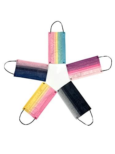 50 Mascarillas multicolor médico-quirúrgicas - Desechables 3 capas - Certificado CE -Homologadas-Tip IIR- 2R- 3 capas - Polipropileno
