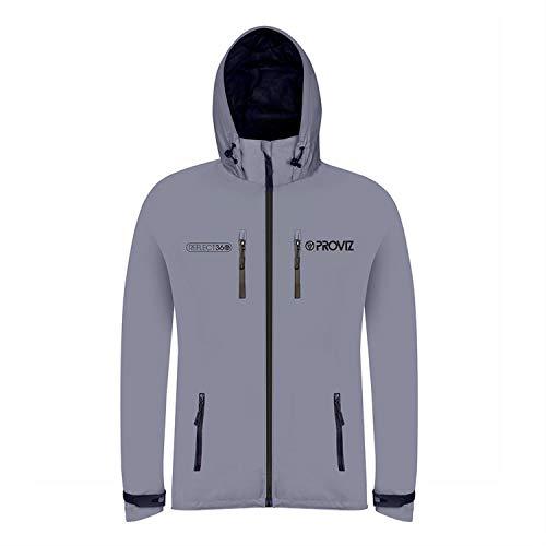 Proviz Herren Reflect 360Outdoor Jacke–Silber/Schwarz, X-Large