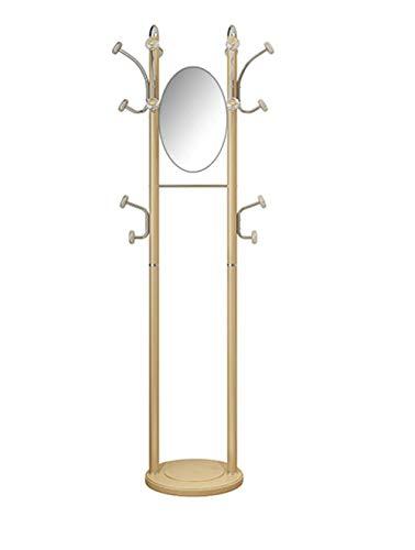 WAJI Home slaapkamer eenvoudige moderne kledingrek multifunctionele mobiele dressing spiegel hanger met spiegel