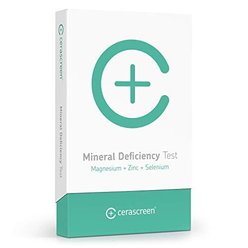 Mineralstoffmangel-Test Kit von CERASCREEN – Mineralstoffe Zink, Selen & Magnesium schnell & einfach von Zuhause testen | Mineralstoff-Analyse Test | Jetzt Mineralstoffe testen lassen