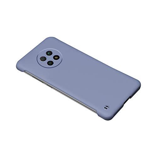 Redmi Note 9T ケース ストラップ付き シンプル 保護ケース 衝撃吸収 カバー シャオミ リドミーノート9T 頑丈 ハードケース スマホケース おしゃれ 人気 スマホカバー スマートフォン ケース カバー(ブルーグレー)