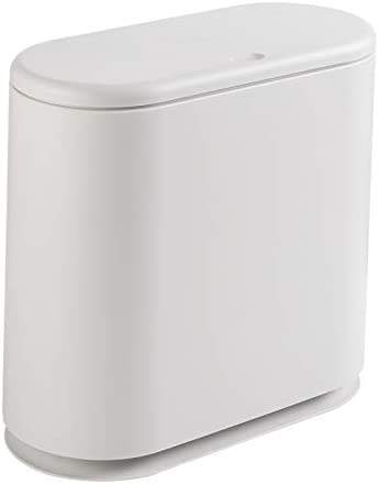 PENGKE Slim Plastic Kansas City Online limited product Mall Trash Can Press Garbage with Gallon 2.4