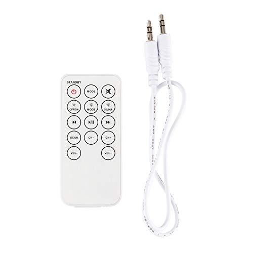 auna Light Up - Turmlautsprecher, Tower Speaker, Säulenlautsprecher, HiFi-Lautsprecher, 40 Watt, Bluetooth, LED-Licht, USB/SD, UKW, Halterung für Tablet und Smartphone, MP3, weiß