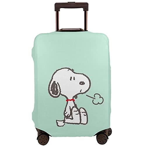 Snoopy Travel Maleta Protector Resistente a los arañazos, a prueba de polvo, elástico y flexible para equipaje de viaje, White (Blanco) - 364465248