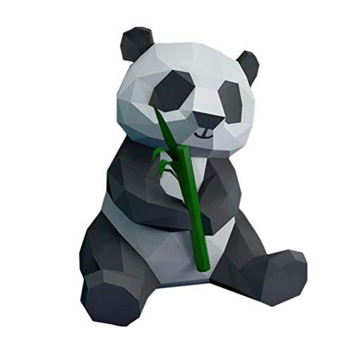 NUOBESTY Panda y Bambú 3D Papel Modelo Geométrico Origami Papel Artesanía Estereoscópico Oficina Bricolaje Decoración Hogar Decoración Juguetes