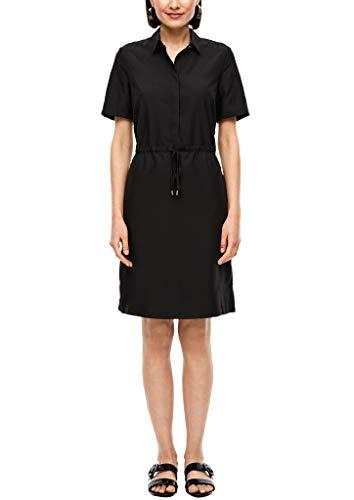 s.Oliver BLACK LABEL Damen Hemdblusenkleid mit Tunnelzug Black 38