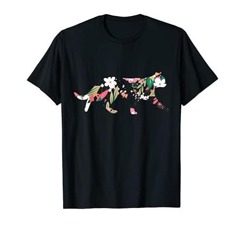 花と猫の女性と女の子への甘い贈り物 Tシャツ