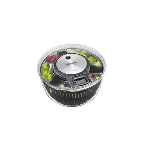 GEFU 28150 Salatschleuder SPEEDWING mit Ablaufsieb für Das Wasser und Einer Salatschüssel - Schonendes Schleudern