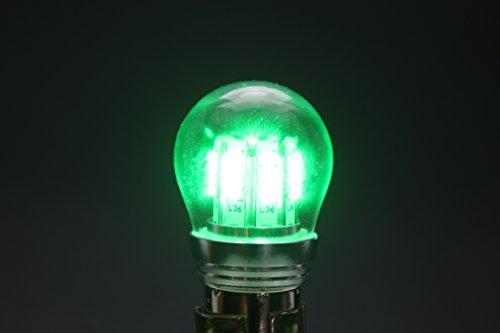 PilotLights LED RA-7512 W-1280 RA-7512-12, BAY15S Base, 10 to 30V LED Replacement Bulb - Green LED
