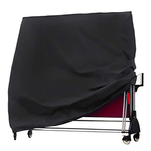 Sunest Nappe de Table de Tennis de Table imperméable en Tissu Oxford pour ping-Pong Housse de Protection pour extérieur et intérieur Noir 165 x 70 x 185 cm 165 * 70 * 185cm 210D