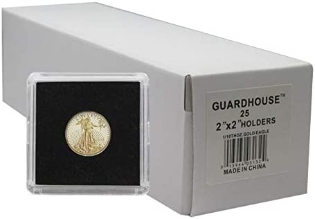 25 Guardhouse 2x2 Tetra Snaplock Coin Holders for Quarter 24.3mm