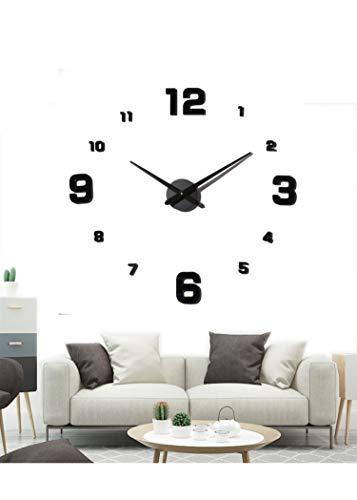EONPOW Reloj de Pared 3D DIY Adhesivos Moda Mute Reloj de Etiqueta de Pared Decoración Ideal para la Casa Oficina Hotel Restaurante
