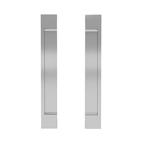 Sliding Door Handle for Kitchen Cabinet, Barn Door Self-Stick Door Handle, Pocket Door Handle for Sliding Closet Door, Pack of 2 Flat Handle Self-Adhesive No Screws Needed Door Handle - Silver