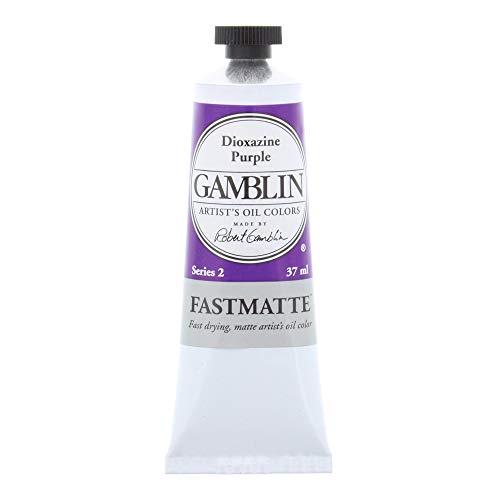 Gamblin Artist Paint, FastMatte Alkyd Colors, Fast Drying Oil Paint, Dioxazine Purple, 37ml Tube