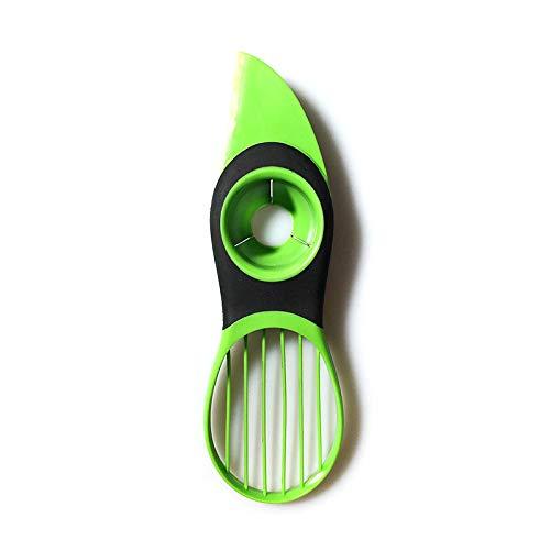 MiXXAR 3-in-1-Avocadoschneider Avocado Slicer Cutter aus Edelstahl Klinge und PP Griff Avocadoschäler Home Küchengeräte