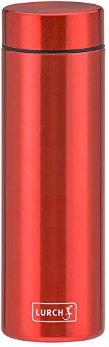 Lurch 240954 Lipstick Thermoflasche aus doppelwandigem Edelstahl 0,3 l Berry Red