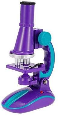 Jszzz Spielzeug C2127 frühe Entwicklung Wissenschaft Mikroskop Spielzeug mit LED-Licht 100X 200X 450X Vergrößerung for Kinder
