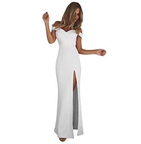HOMEBABY® Abiti Lunghi Donna Eleganti Off Spalla - Vintage Estivi Vestiti Casual Donna - Maxi Abito...