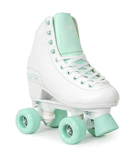 Sfr Skates Skates Skates Skates Kinder Jugend Unisex, SFR050, Mehrfarbig (Weiß/Grün), 34