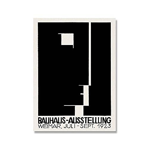 Carteles e impresiones retro Bauhaus 1923 Weimer cartel de exposición cuadro de arte de pared pintura para el hogar pintura de lienzo sin marco A1 60x90cm