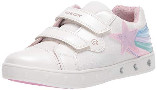 Geox J Skylin Girl C, Scarpe da Ginnastica Basse Bambina, Bianco (White C1000), 28 EU
