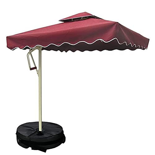 Aosong Bolsa de peso para sombrilla para terraza, redonda, impermeable, de alto rendimiento, para exteriores con posibilidades de bandera de pie y fácil de transportar e instalar