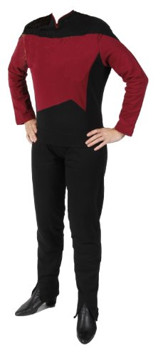 STAR TREK - The Next Generation - Raumschiff Enterprise - Uniform Shirt + Hose - Rot - M