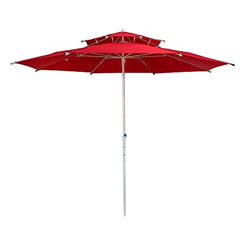 AKTIVE 53849 - Sombrilla octogonal 280 cm doble techo y protección uv30+ AKTIVE Garden