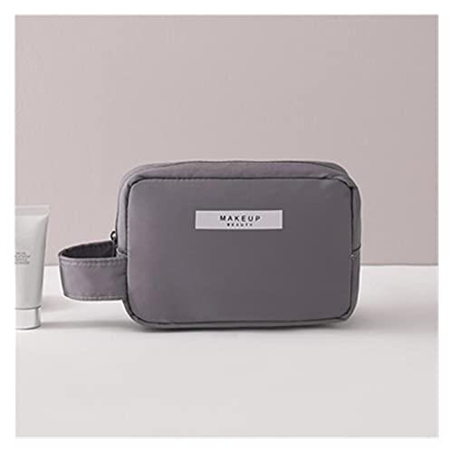 GLADMIN Bolsa de Maquillaje para Mujer Artículos de Aseo Organizador Impermeable Viaje Maquillaje Pollo de Almacenamiento Femenino Caja cosmética de Gran Capacidad. (Color : Small Gray)